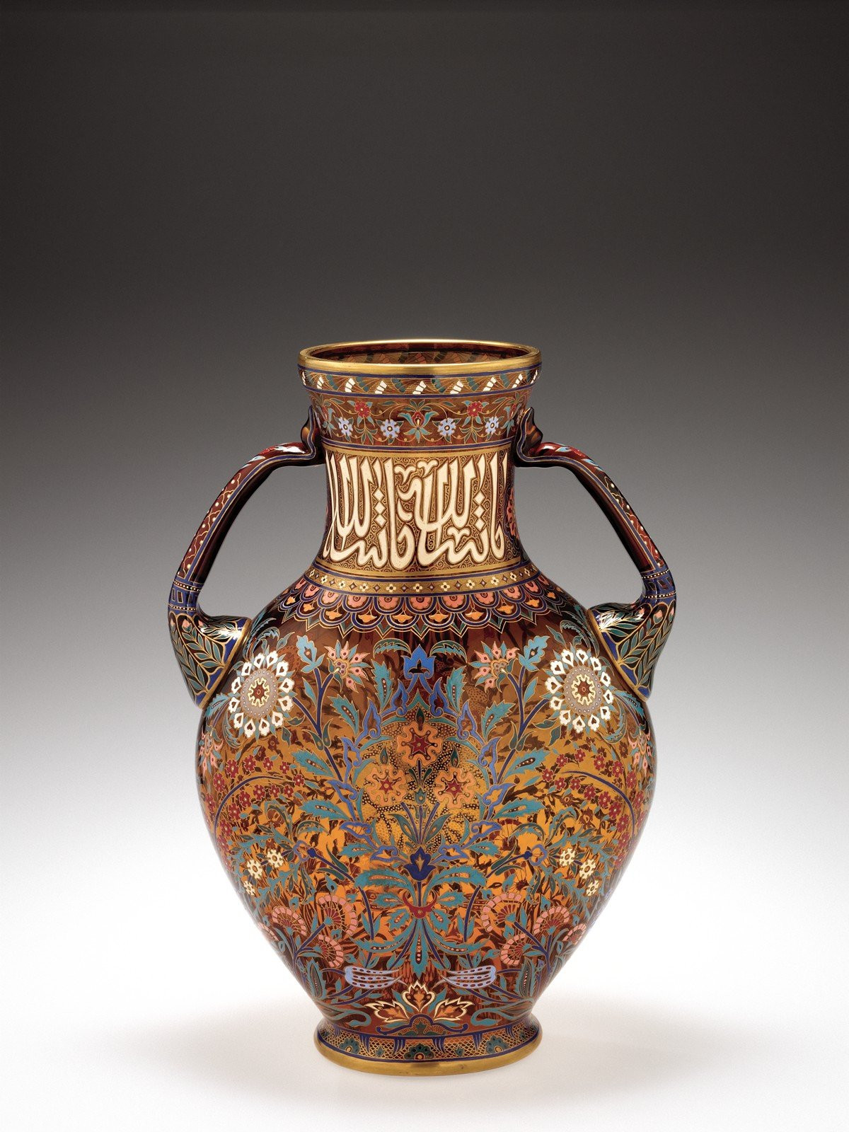 crystal vase with gold of collection search corning museum of glass throughout persian series
