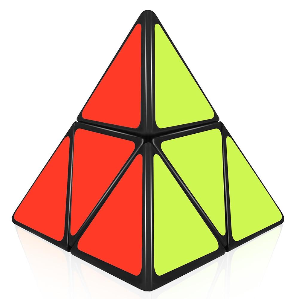 cube glass vase 6x6x6 of d fantix shengshou 2x2 pyramid cube puzzle triangle magic cube regarding d fantix shengshou 2x2 pyramid cube puzzle triangle magic cube puzzle toy black in magic cub