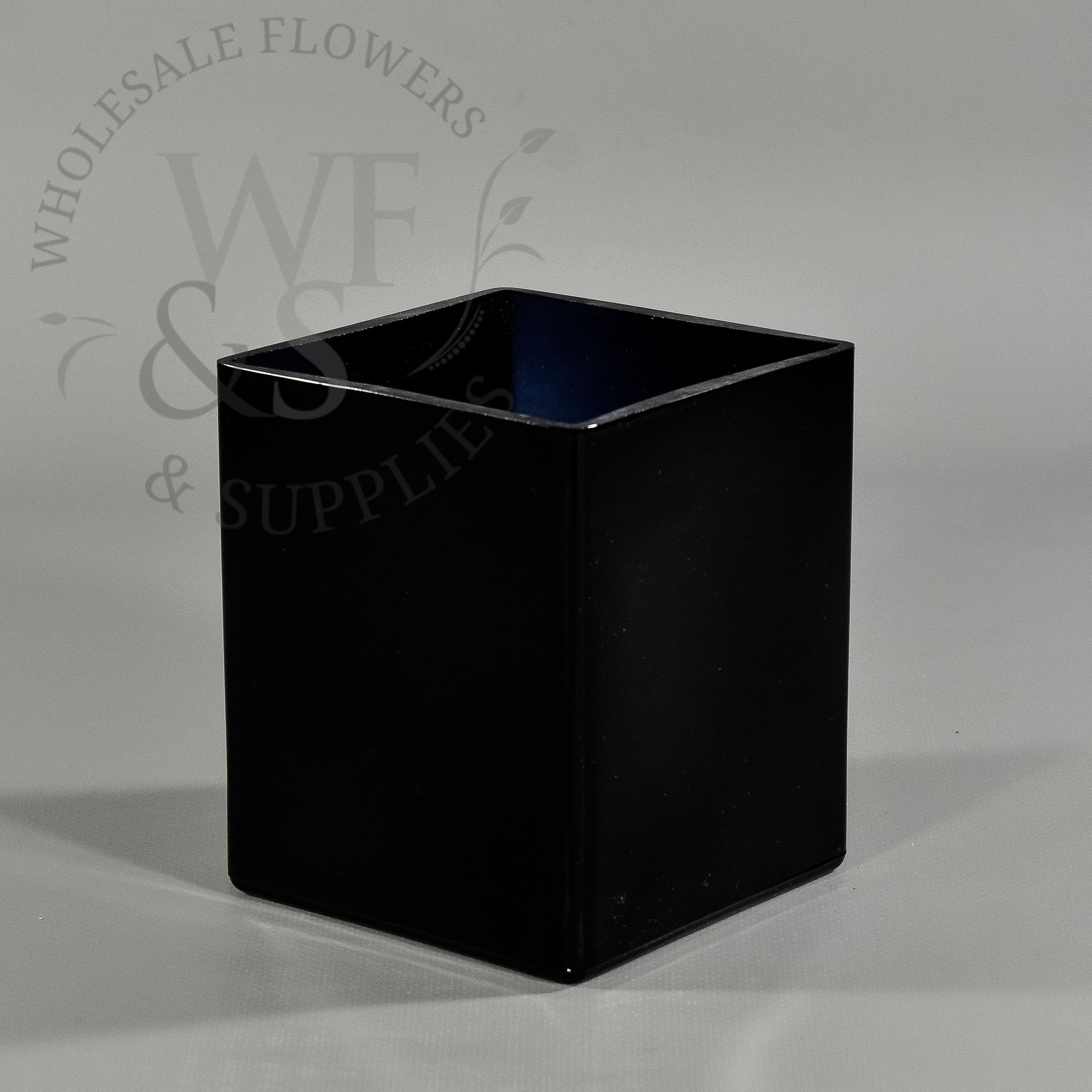 Cube Glass Vase 6x6x6 Of Square Glass Vases wholesale Flowers and Supplies Inside Cube Glass Vase In Black