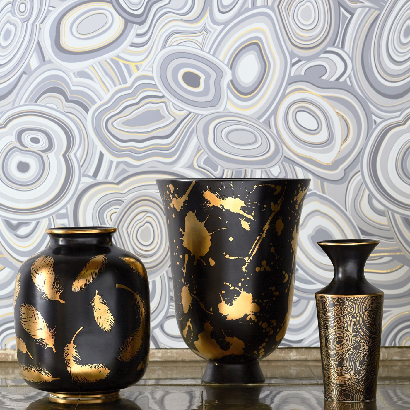 cyan design vases of 44 gold and silver vase the weekly world within futura feathers vase modern pottery jonathan adler