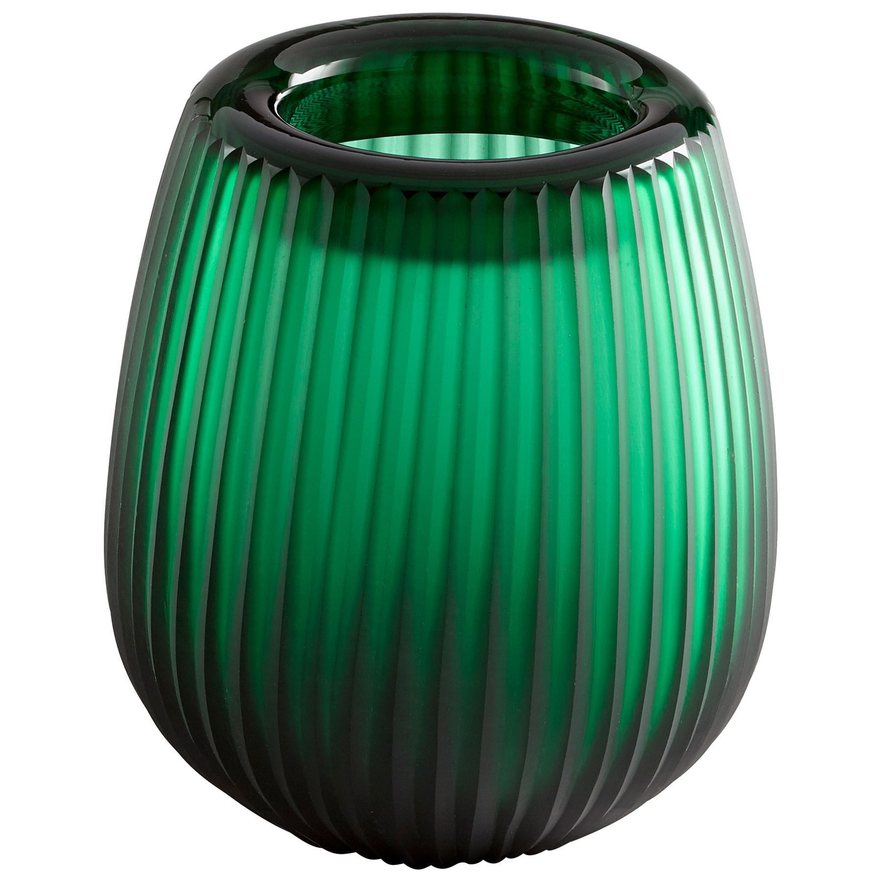 cyan design vases of home accessories pietro vase small 5x10in in glowing noir small emerald green art glass vase by cyan design