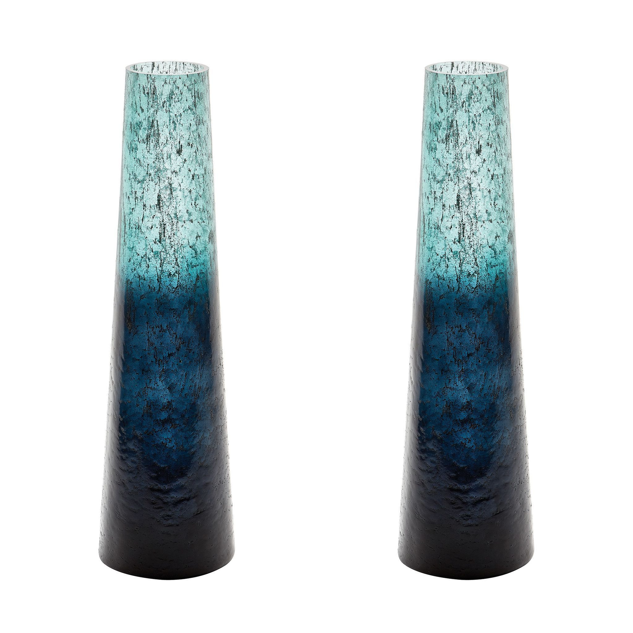 cylinder vase set of lazy susan emerald ombre snorkel vase 876034 s2 products in this set of 2 emerald ombre snorkel vases are each mouth blown by a skilled craftsman using traditional techniques the ombre finish is hand applied after