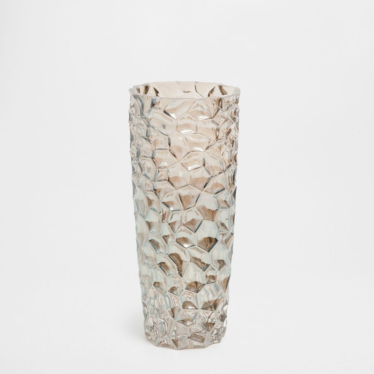 cylinder vase set of mother of pearl effect glass vase for image 1 of the product mother of pearl effect glass vase