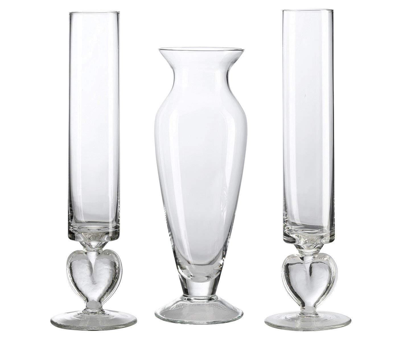 cylinder vases set of 3 of amazon com lillian rose unity sand ceremony wedding vase set home for amazon com lillian rose unity sand ceremony wedding vase set home kitchen