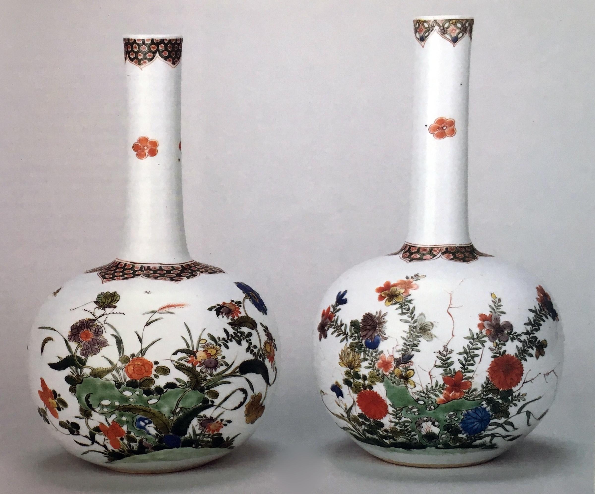 cylindrical glass vase of two rare chinese famille verte bottle vases kangxi 1662 1722 in two rare chinese famille verte bottle vases ao·c†™a¹e— 1662 1722