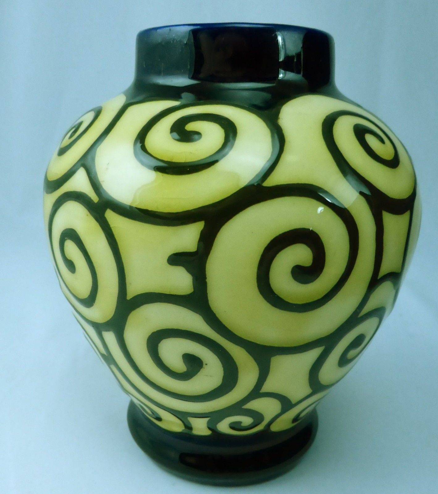 czech art glass vase of ditmar urbach czech pottery www topsimages com with rare ditmar urbach czech art deco vase blue slip glaze with multicolor swirls jpg 1418x1600 ditmar