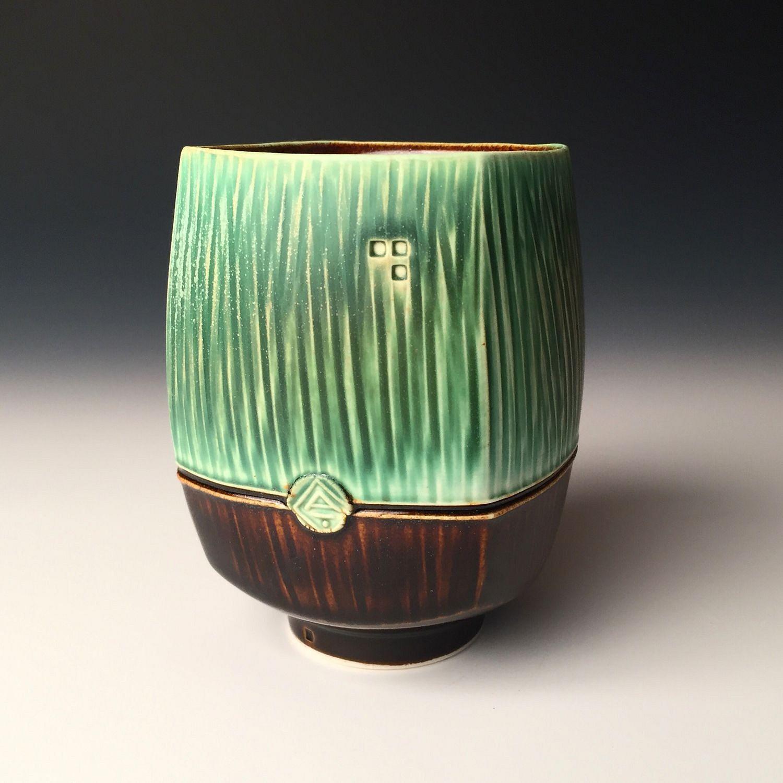 dark green glass vase of nick devries dark green mug 2 2017 the art spirit gallery throughout nick devries dark green cup 1 2017 ceramic