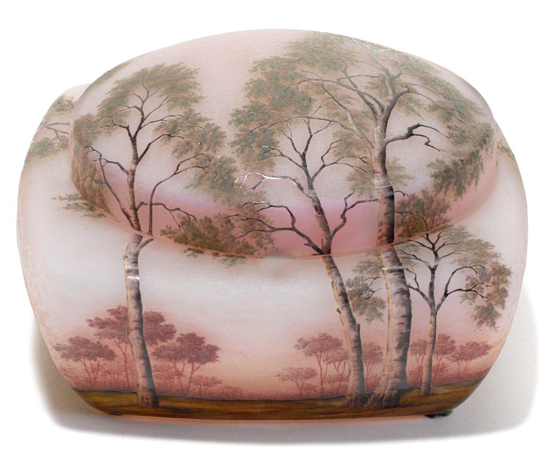 daum daffodil vase of daum nancy glass antique boxes with a daum nancy enameled cameo glass landscape box