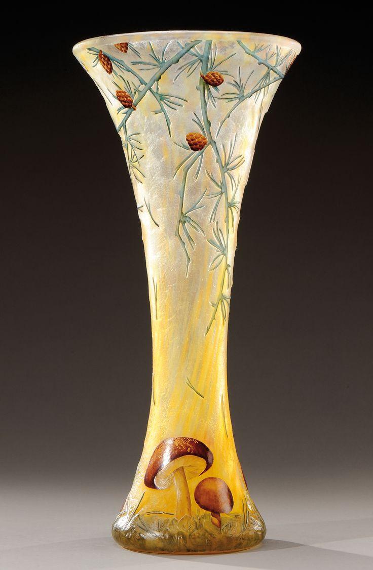 daum nancy vase prices of 188 best daum nancy images on pinterest glass vase art nouveau in daum nancy exceptionnel et rare vase de forme diabolo en verre doubla a dacor