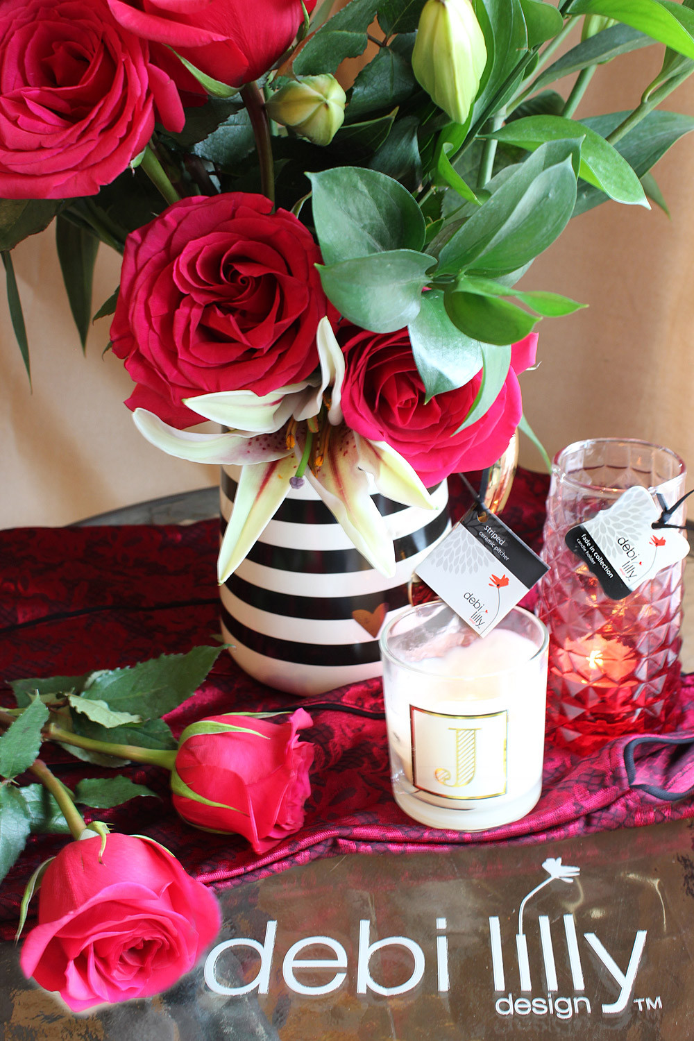 debi lilly vases for sale of four decorating and gift ideas for celebrating valentines day with regard to i also selected the debi lilly design fade in collection candle holder in a blush pink its the perfect size to use as a bud vase down the road