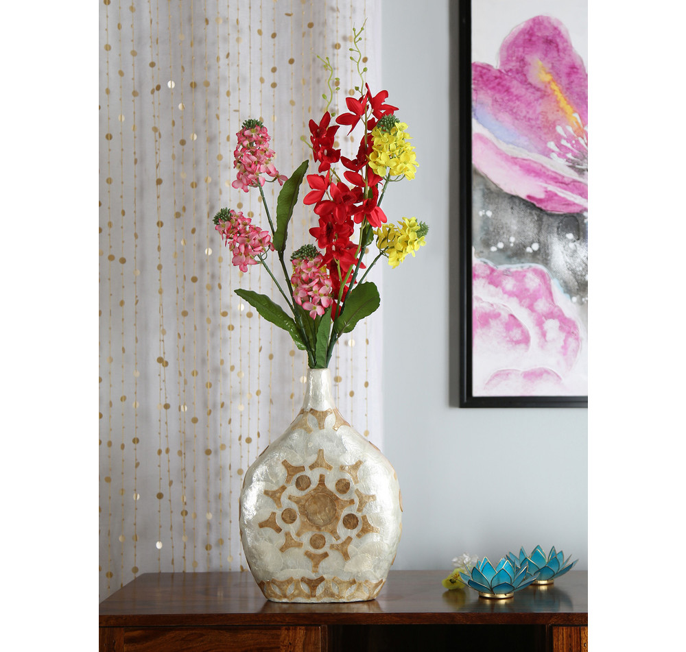 decorative flower vase online of buy stout floral prism vase white online at home throughout stout floral prism vase white