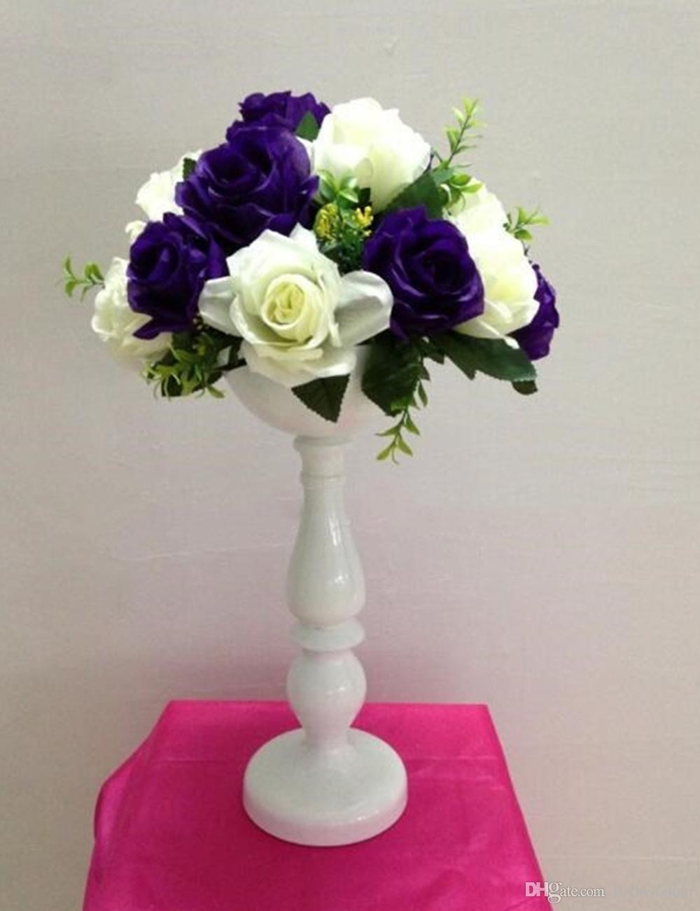 decorative flower vase online of new arrive 37 cm tall white metal flower vase wedding table in new arrive 37 cm tall white metal flower vase wedding table centerpiece event home decor hotel road lead flower vase road lead online with 237 99 piece