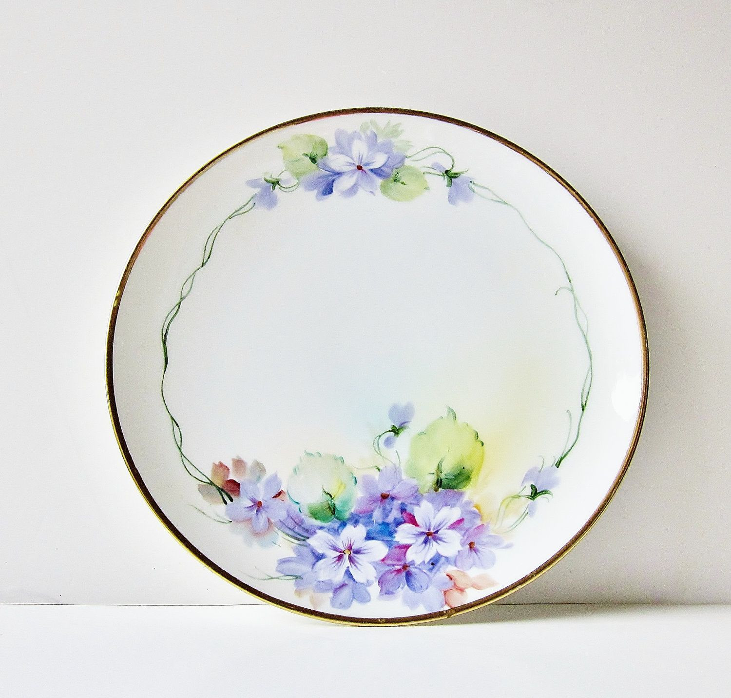 decorative vases and plates of hand painted violets fine china display plate vintage nippon with regard to purple violets porcelain plate vintage nippon china