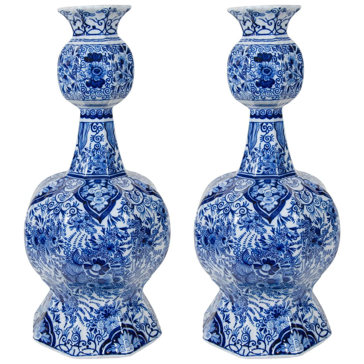 delft blue tulip vase of pair of dutch delft blue and white vases white vases delft and dutch with pair of dutch delft blue and white vases