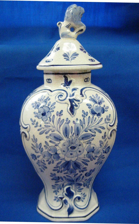 delft holland vase of antique 1890s de porceleyne fles royal delft large pul covered pot pertaining to 4fa54d01916d8 53237b