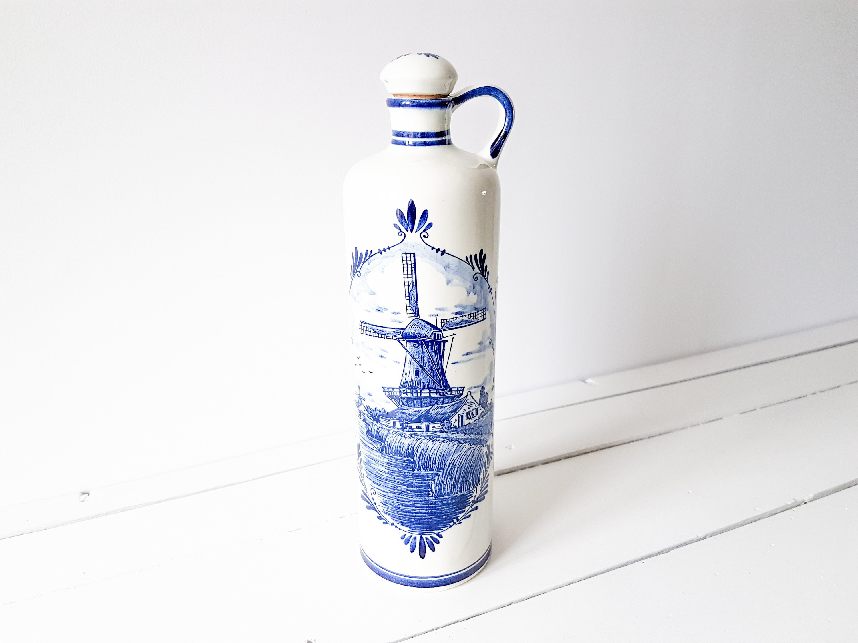 delft holland vase of delft porslin vrde image is loading vintage delft vase delftware with vintage delft blue jug with cork stopper handmade holland vintage gin jug bols vintage pottery dutch folklore