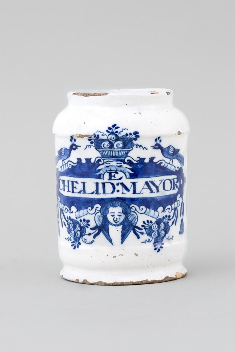 delft vase holland of a dutch blue white delft apothecary jar 18th century anita gray throughout a dutch blue white delft apothecary jar