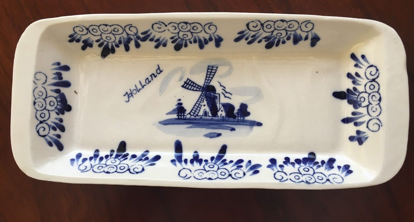 delft vase holland of vtg ceramic 8 by 3 1 2 holland delft blue butter dish hand regarding 1 of 5free shipping