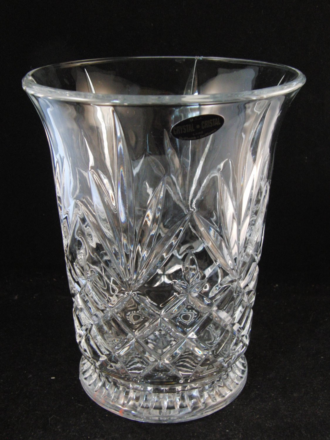 "Deplomb Lead Crystal Vase Of Genuine Lead Crystal Vase by Deplomb Crystal U S A Etsy with Regard to DŸ""Žzoom"