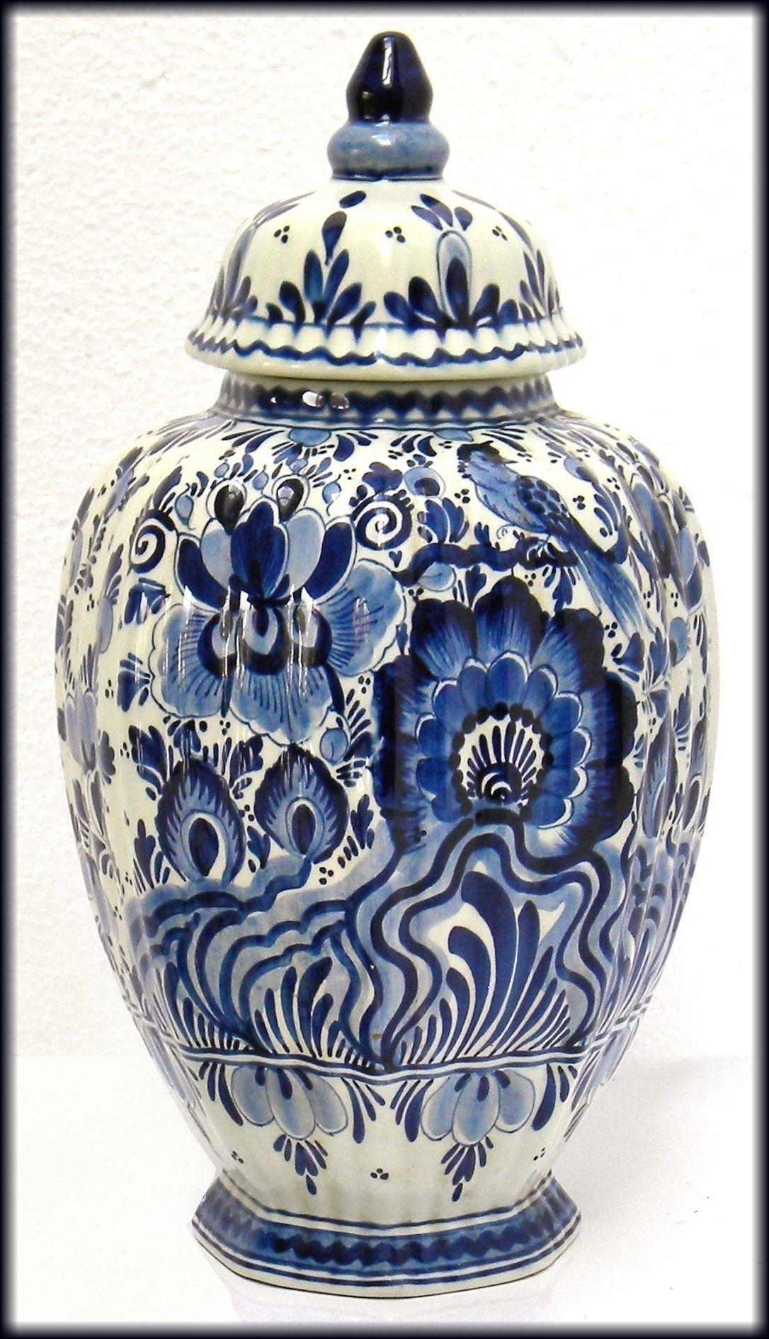 diamond shaped vase of vintage delft blue ceramic vase jar hand painted cobalt blue floral pertaining to amazing delft blue vintage dutch art pottery with cobalt blue bird and floral decoration