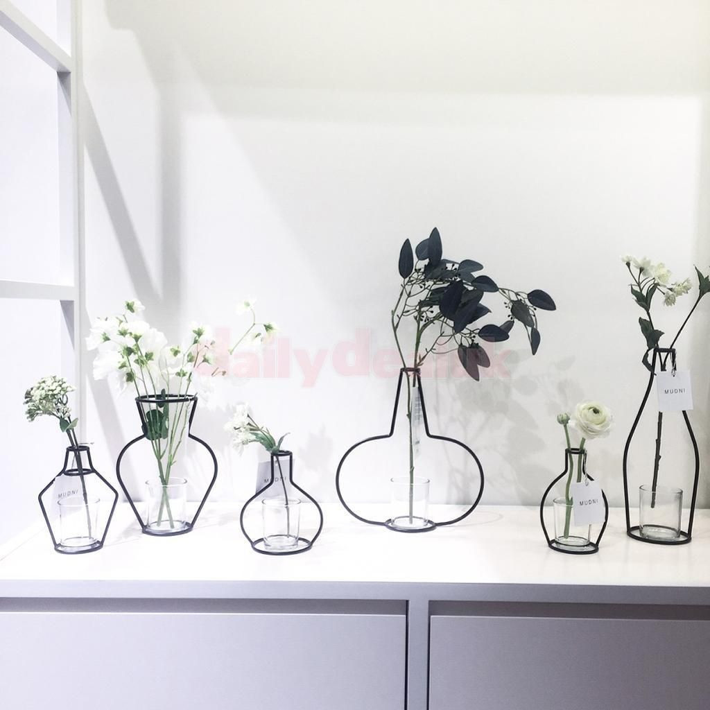 Different Types Of Glass Vases Of Retro Plant Iron Wire Stand Holder Metal Pot Black Flower Vase Intended for Retro Plant Iron Wire Stand Holder Metal Pot Black Flower Vase Holder 6 Type