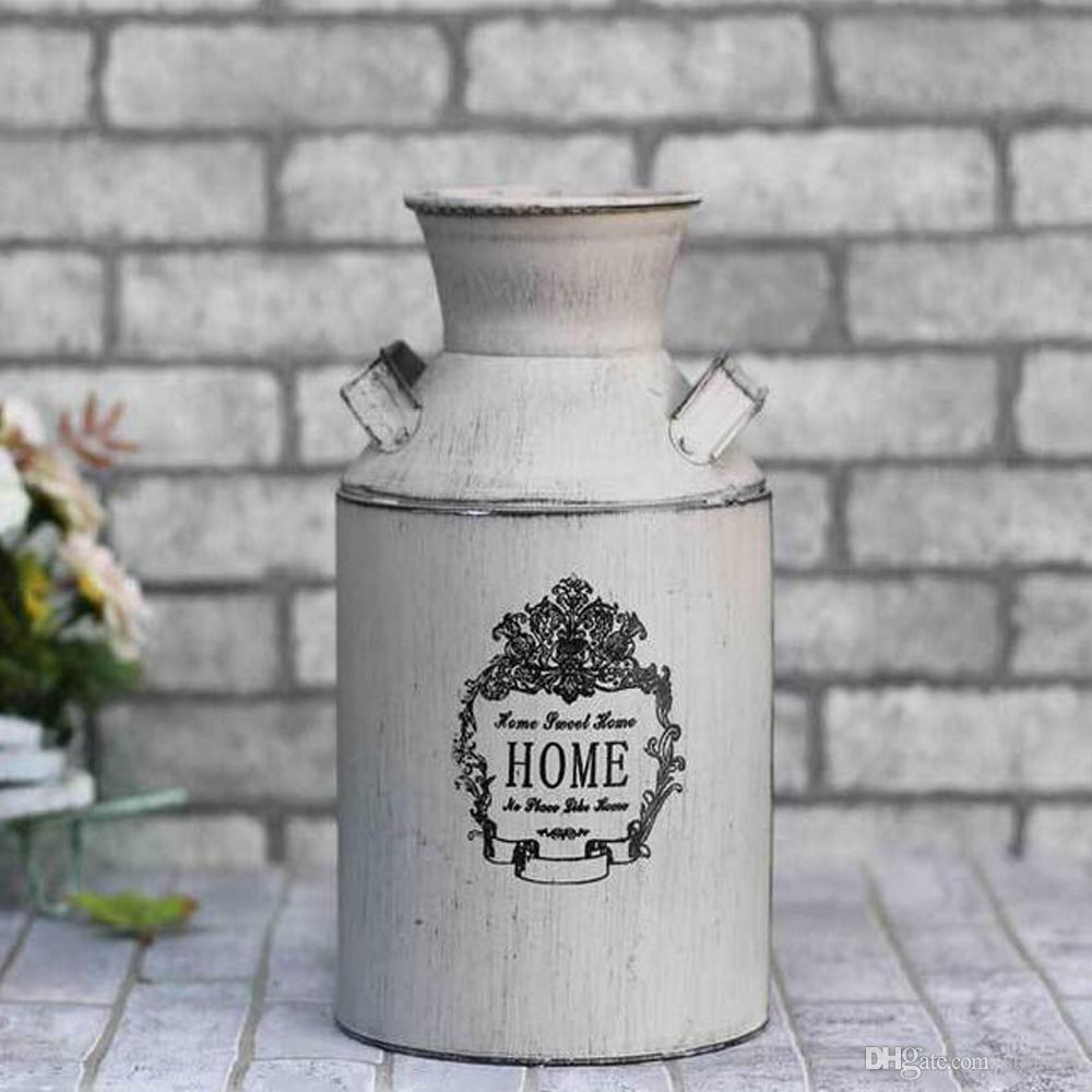 different types of vases of elegant white country rustic primitive jug vase milk can flower vase intended for elegant white country rustic primitive jug vase milk can flower vase for wedding party home cafe