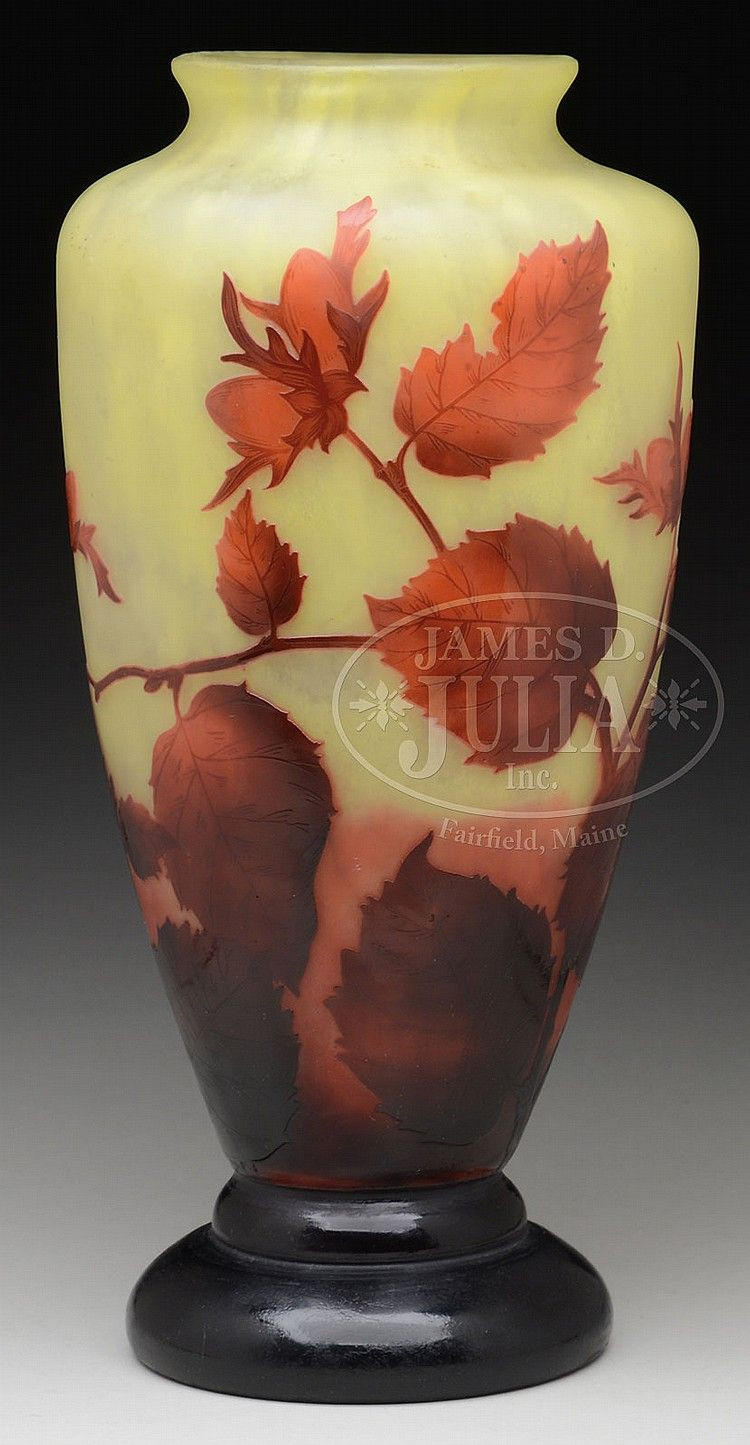 discount glass flower vases of buy online view images and see past prices for daum nancy berry pertaining to buy online view images and see past prices for daum nancy berry cameo vase invaluable is the worlds largest marketplace for art antiques