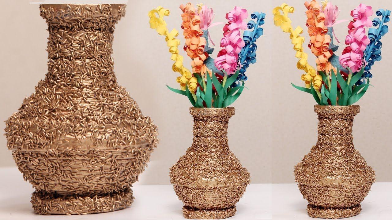 Diy Flower Vase Decoration Of Amazing Diy Using Newspaper and Rice Make A Flower Vase Diycrafts with Amazing Diy Using Newspaper and Rice Make A Flower Vase Diycrafts
