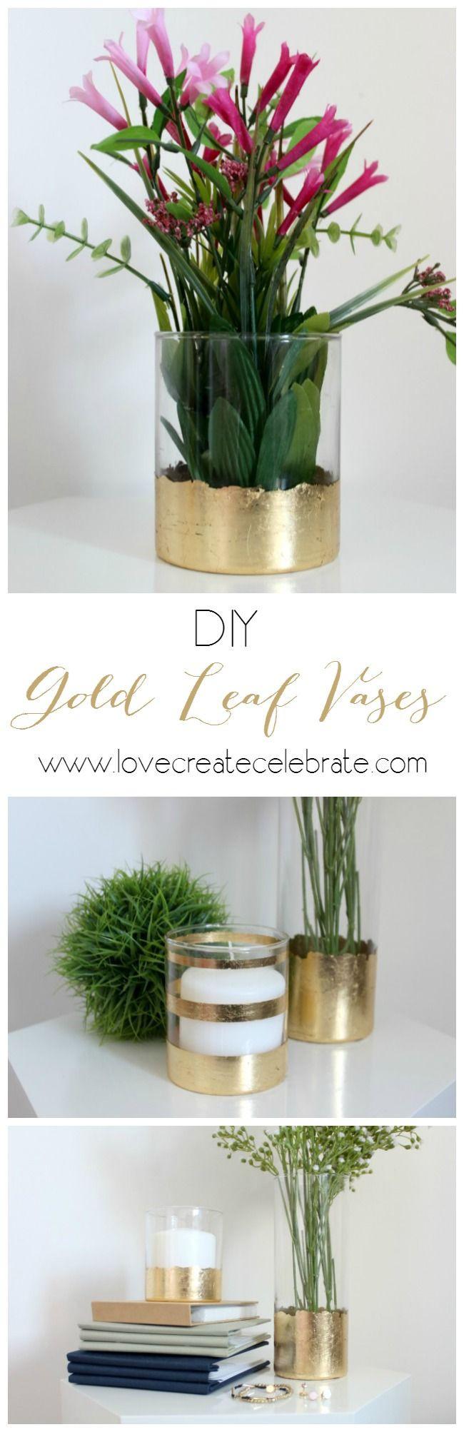diy gold dipped vases of 1608 best diy vases images on pinterest floral arrangements pertaining to diy gold leaf vase