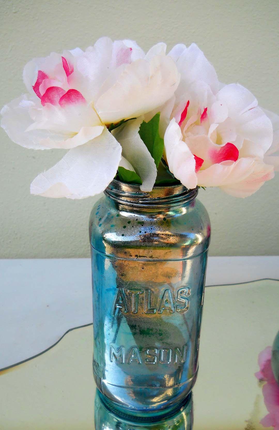 diy mercury glass vase of diy faux mercury glass in any color mercury glass projects inside viola blue atlas mason sm 1080a—1661 more
