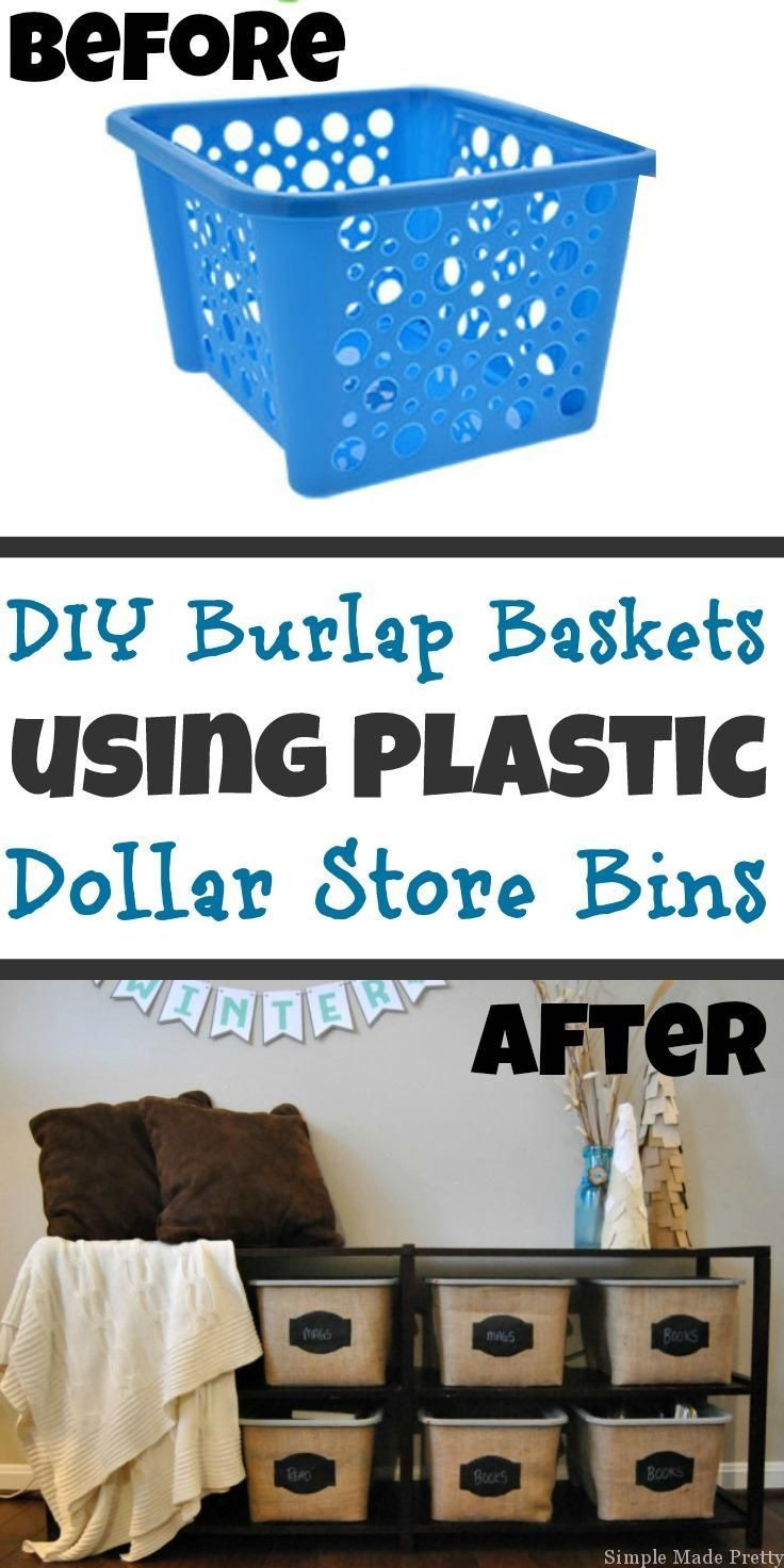 dollar general vases of 27 best dollar store crafts images on pinterest good ideas in diy burlap baskets using plastic dollar store bins 2018