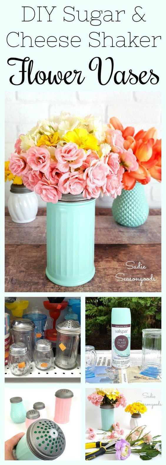 dollar tree floral vases of get creative with these 26 dollar store crafts to make something regarding you can find sugar shakers or parmesan cheese shakers at your dollar store or thrift store they can usually be purchased for very little money