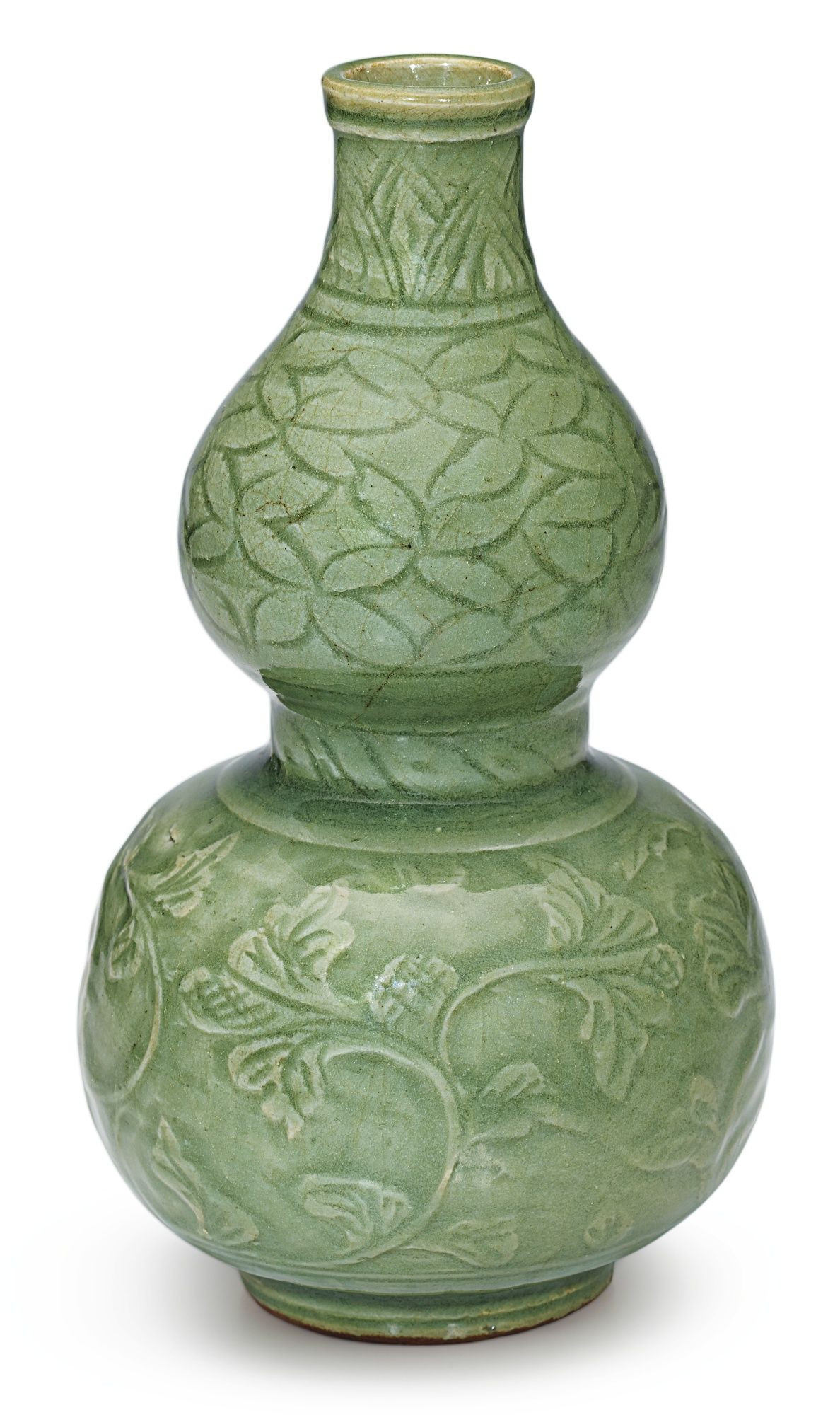 double gourd vase of a longquan celadon peony double gourd vase ming dynasty 16th within a longquan celadon peony double gourd vase ming dynasty 16th 17th