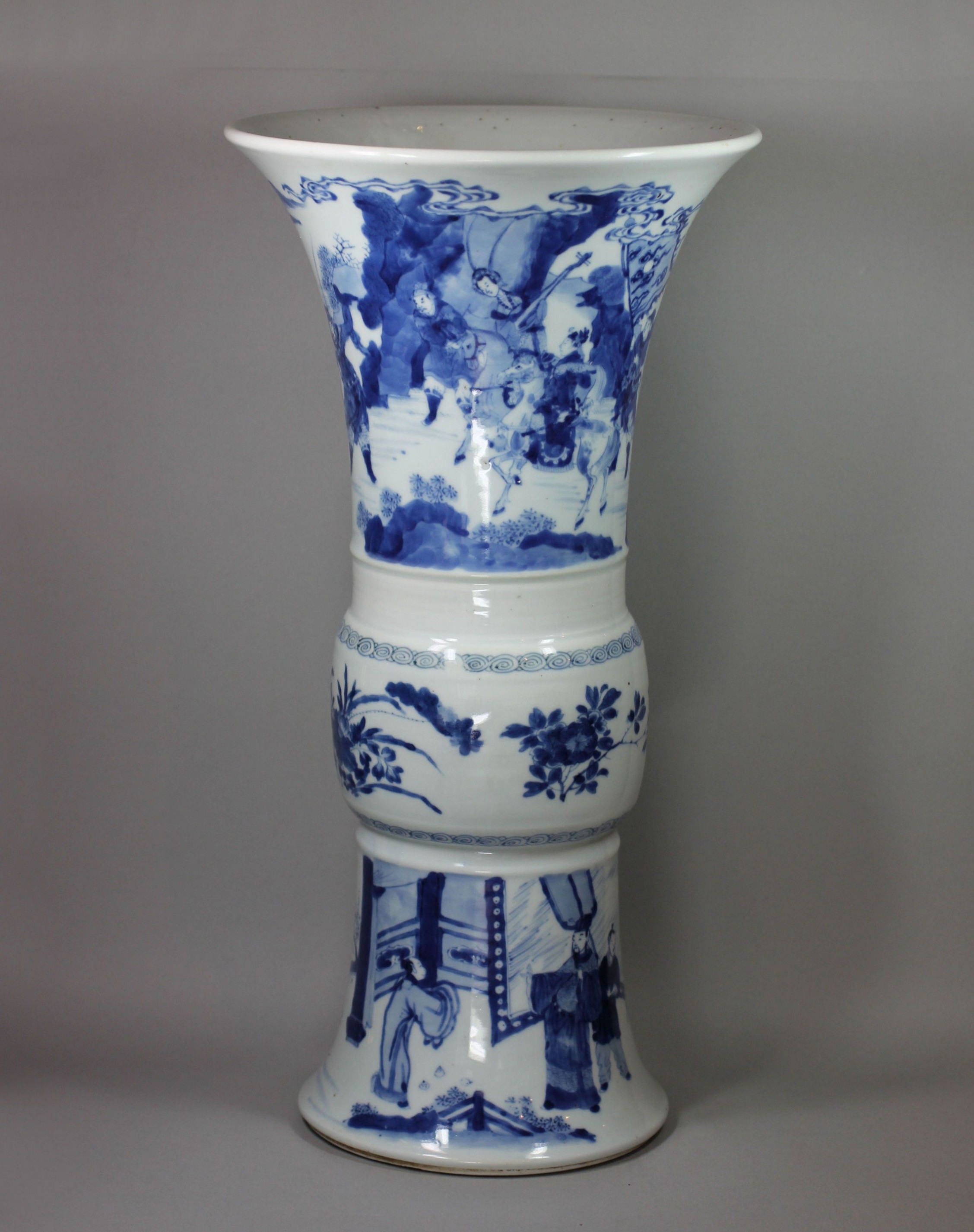double gourd vase of grand vase blanc you known me throughout chinese blue and white beaker vase kangxi
