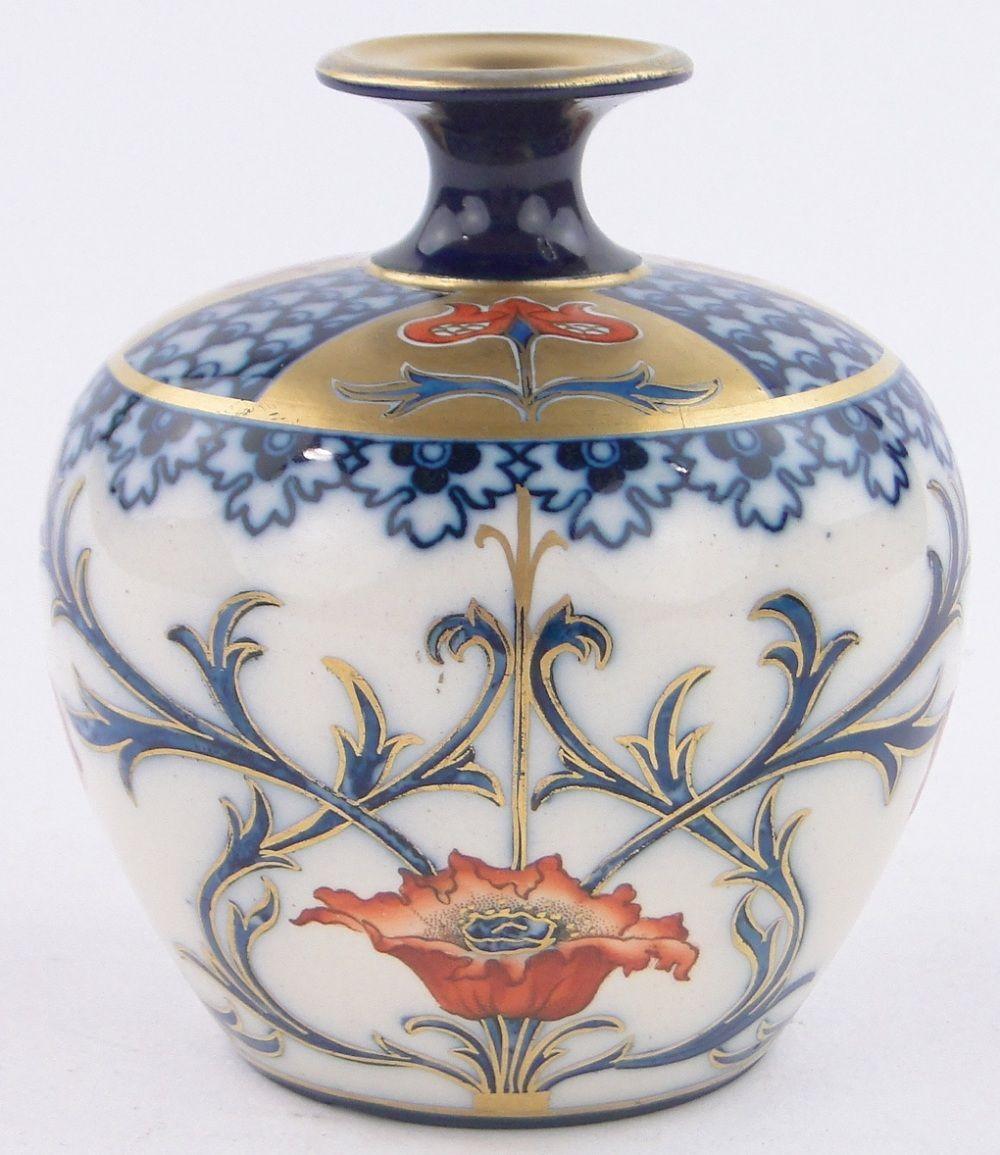 doulton burslem vase of a james macintyre burslem art nouveau narrow n art pottery inside a james macintyre burslem art nouveau narrow necked vase with poppy design