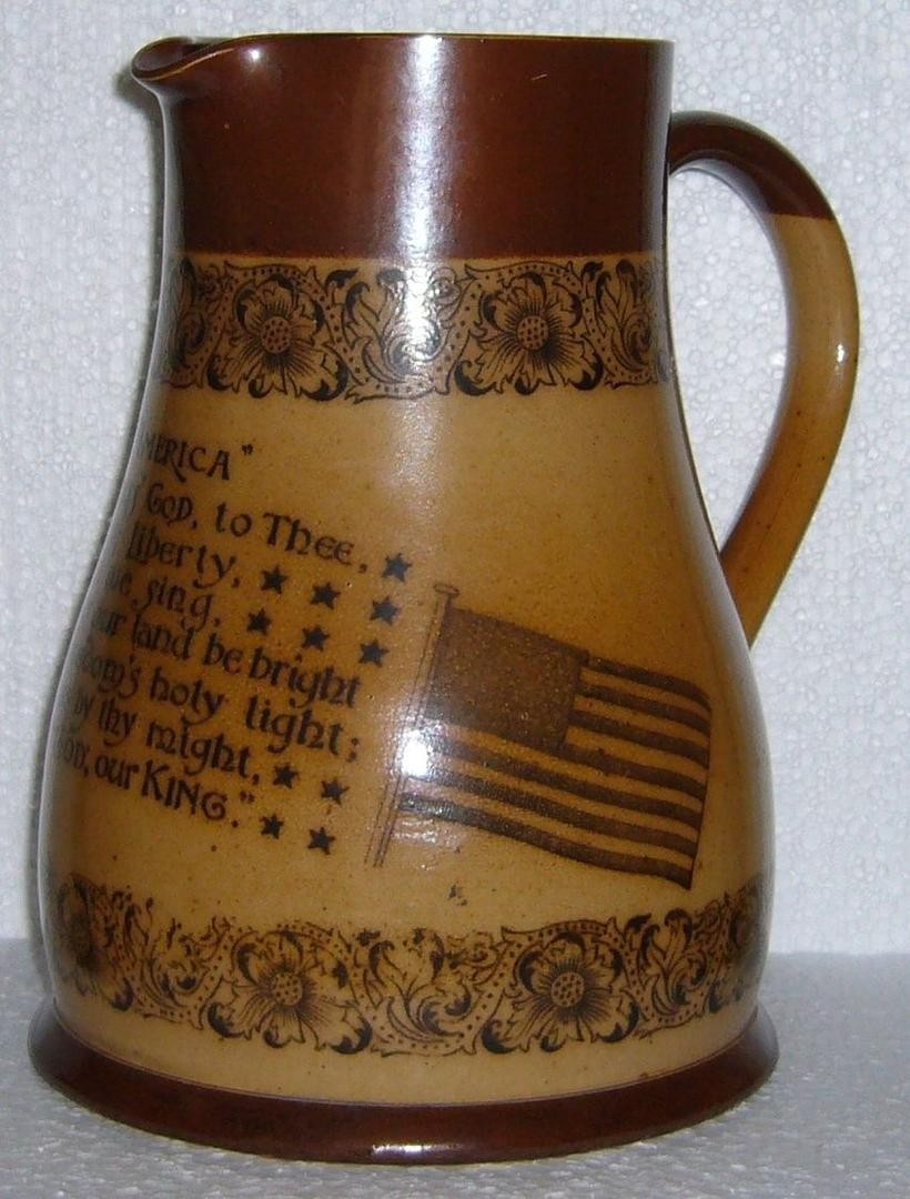 doulton lambeth vase of doulton lambeth celebrates america stoneware pitcher 8 tall in next