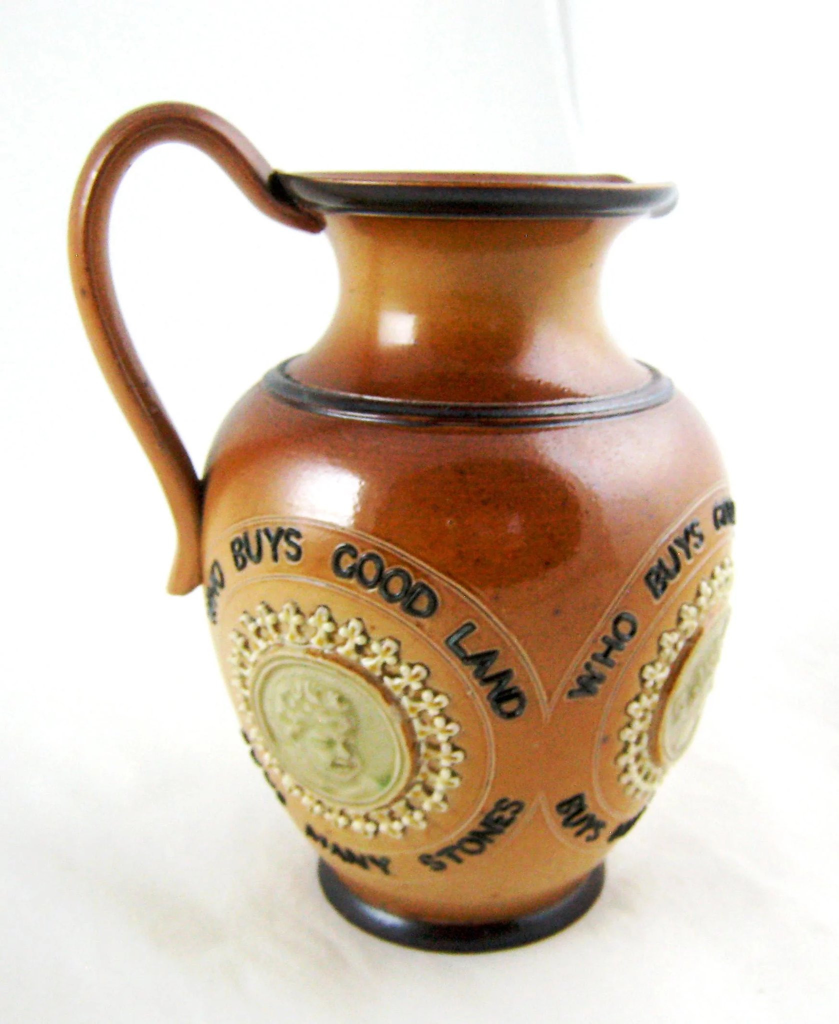 doulton lambeth vase of victorian doulton lambeth motto jug pitcher valerie ivory antiques intended for victorian doulton lambeth motto jug pitcher click to expand
