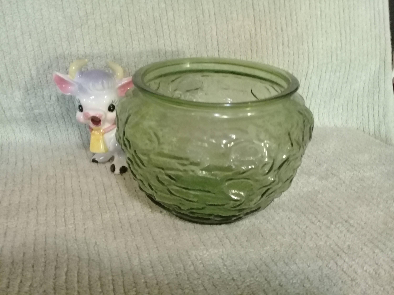 "e o brody vase of eo brody co g 107 vintage olive green glass crinkle textured etsy inside dŸ""Žpowia™ksz"