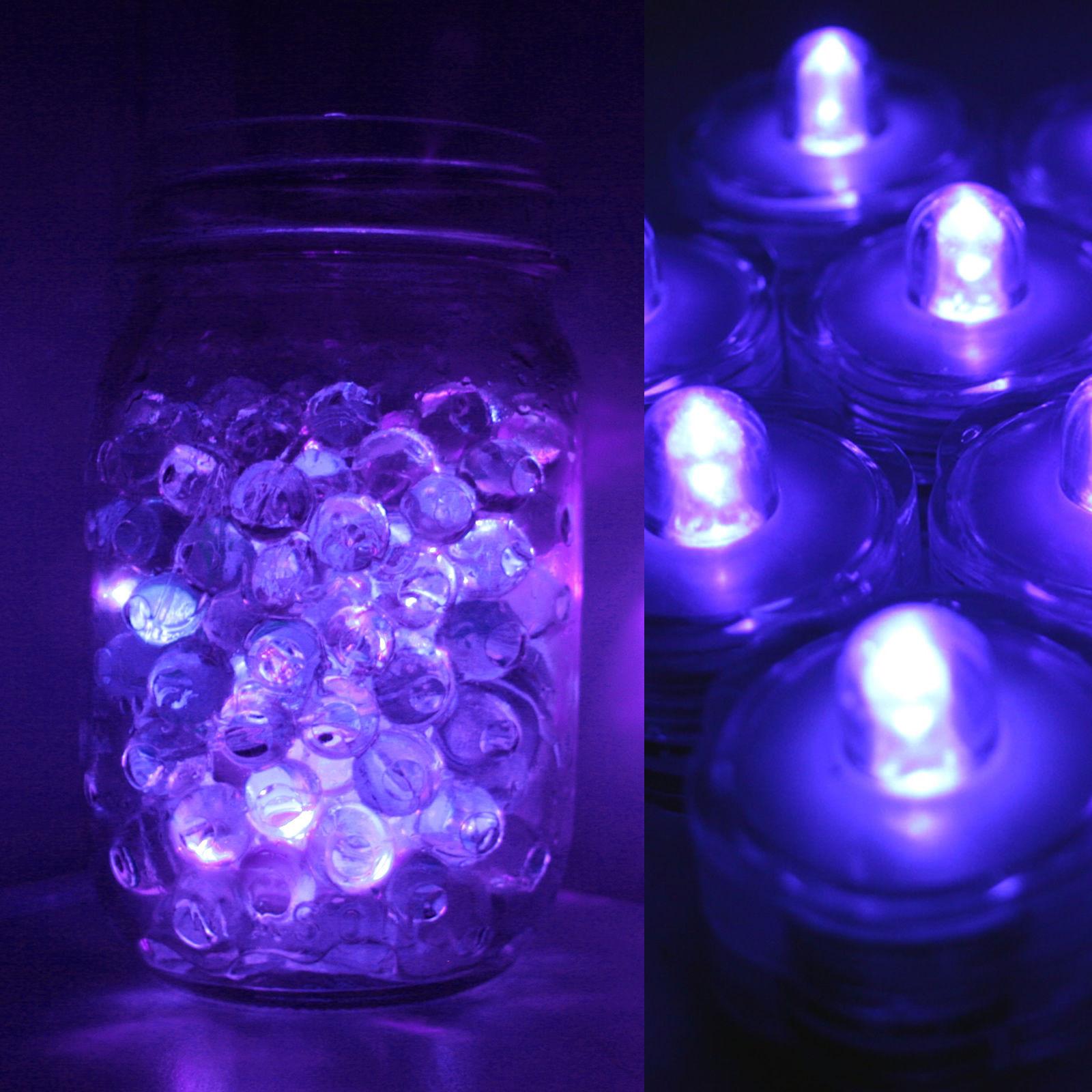 eastland glass cylinder vases of 24 pack purple submersible waterproof underwater battery led tea regarding 24 pack purple submersible waterproof underwater battery led tea light wedding ebay
