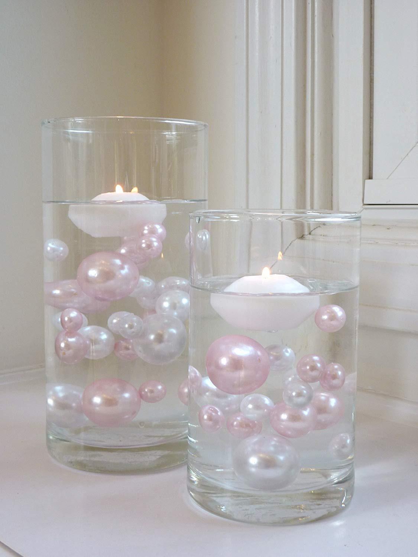 eastland tall cylinder vases set of 3 of amazon com vase pearlfection white floating candles 1 8 6 pack throughout amazon com vase pearlfection white floating candles 1 8 6 pack unscented wh