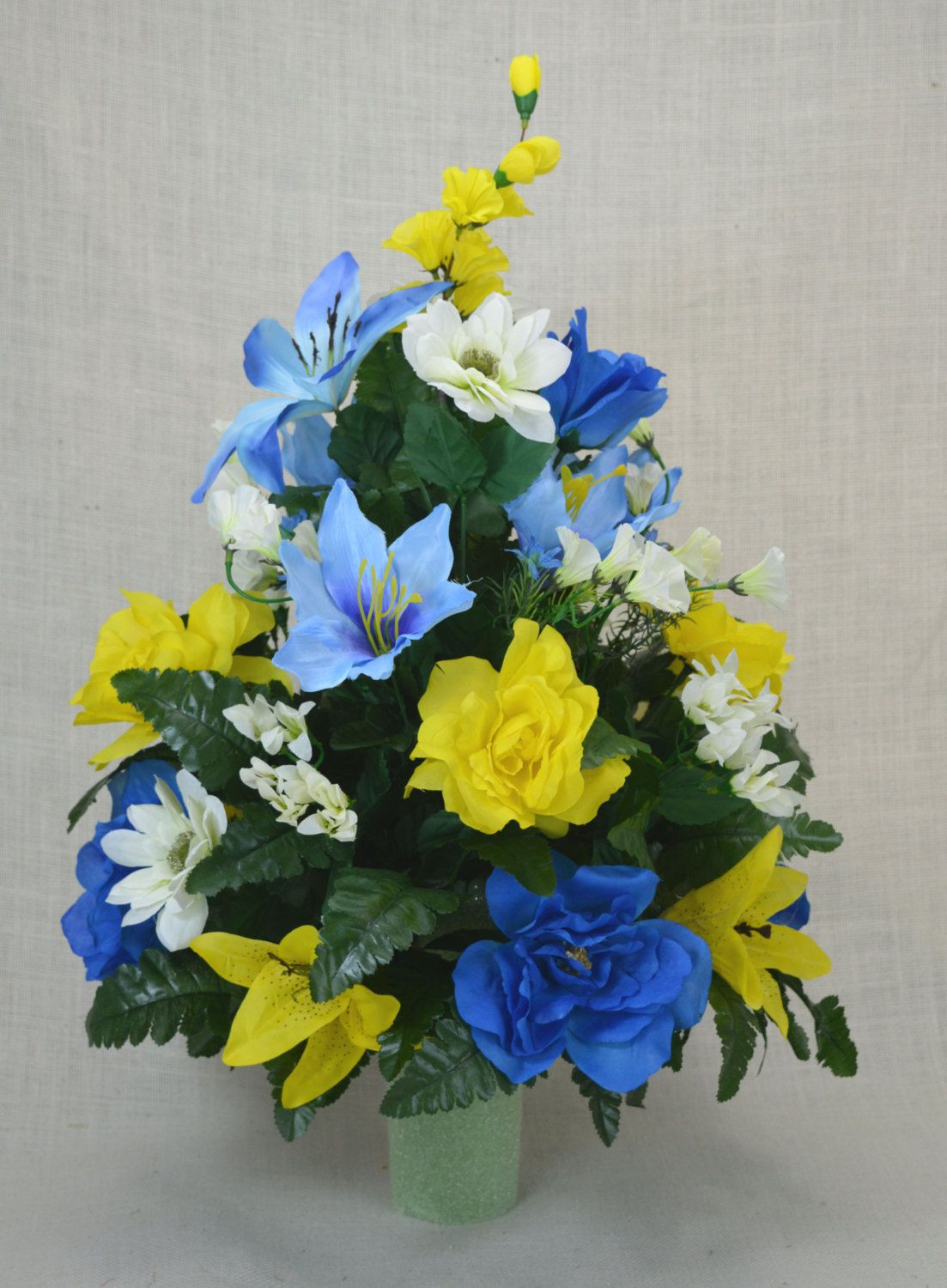 ebay artificial flowers in vase of 20 beautiful silk flowers for grave vases bogekompresorturkiye com with c0135 spring cemetery arrangement spring cone flower cone arrangement grave