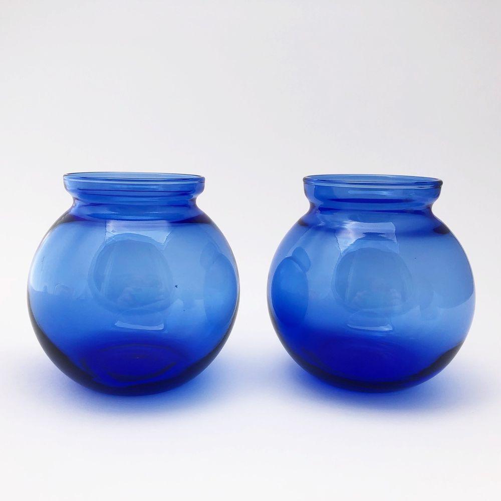 Ebay Vases for Sale Of 2 Cobalt Blue Glass Rose Bowl Globe Shaped with Rim Hand Made Regarding 2 Cobalt Blue Glass Rose Bowl Globe Shaped with Rim Hand Made Vase Ebay Https Www Ebay Com Itm 202335685957ul Noapptrue
