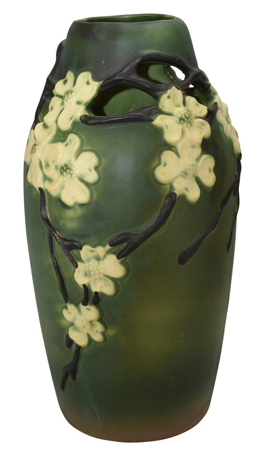 Ebay Vases for Sale Of Roseville Pottery Dogwood Smooth Reticulated Vase 140 15 Ebay Intended for Roseville Pottery Dogwood Smooth Reticulated Vase 140 15 Ebay
