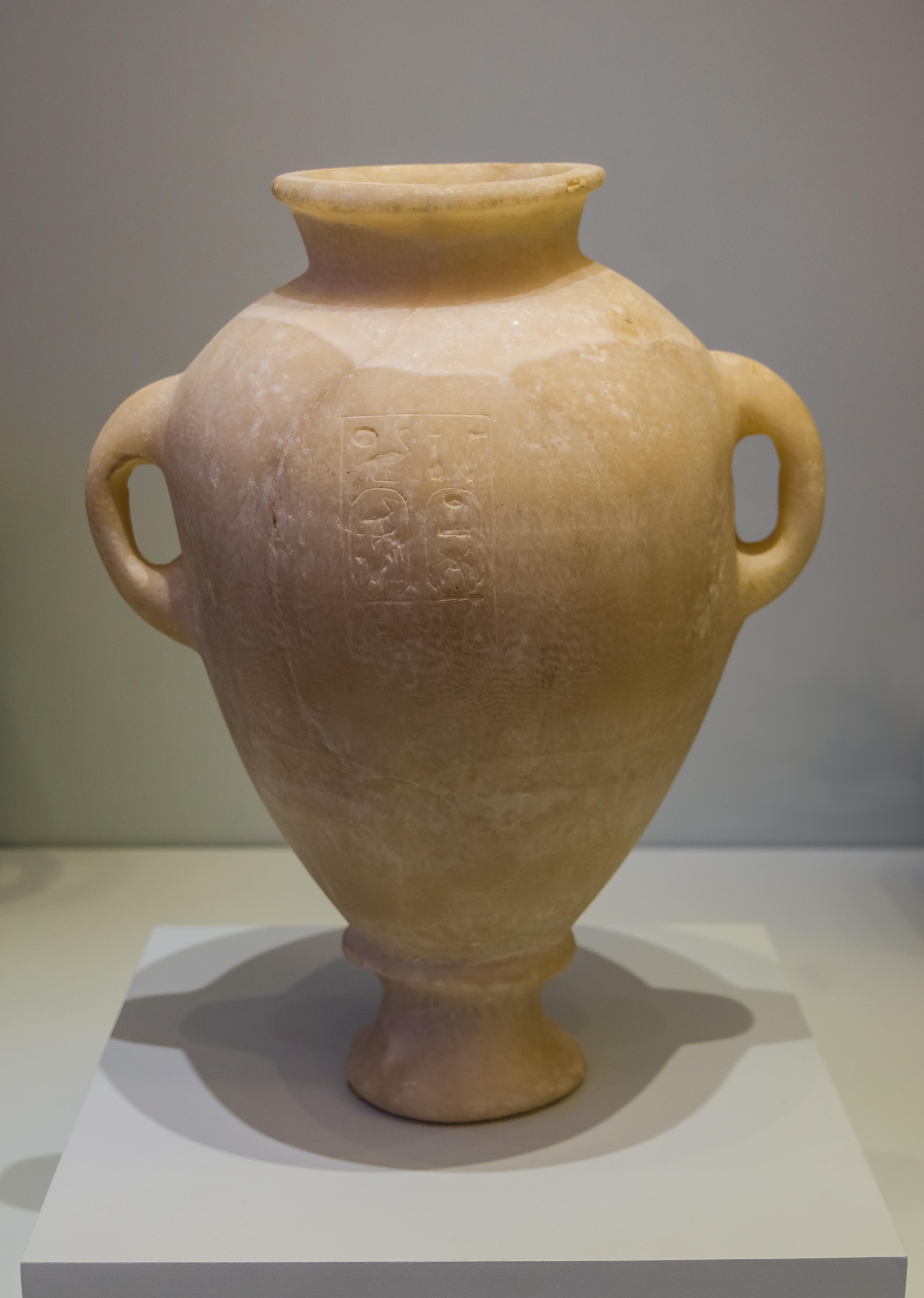 egyptian alabaster vase of fileegyptian alabaster amphora thutmosis iii amh wikimedia in fileegyptian alabaster amphora thutmosis iii amh