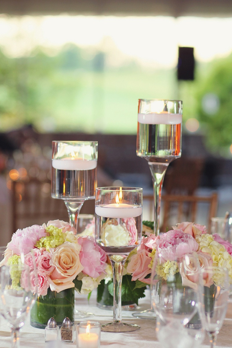 elegant expressions natural mixed media cylinder vase of a garden inspired summer wedding at a golf club in new jersey with regard to floating candles in monet glass vases and short arrangements