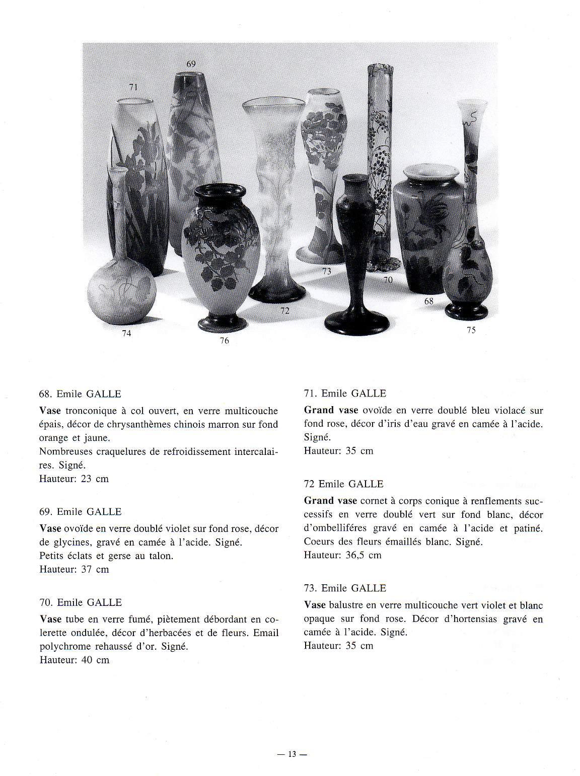 emile galle vase of vase galle unique regarding facture et catalogue fourni a lacheteur vase galle unique