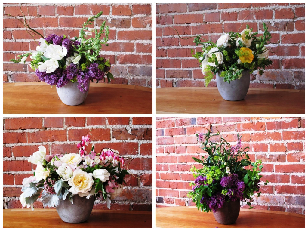 Empty Vase Florist Los Angeles Ca Of Debra Prinzing A Plants Intended for 4 Bouquets May 3 Set 2