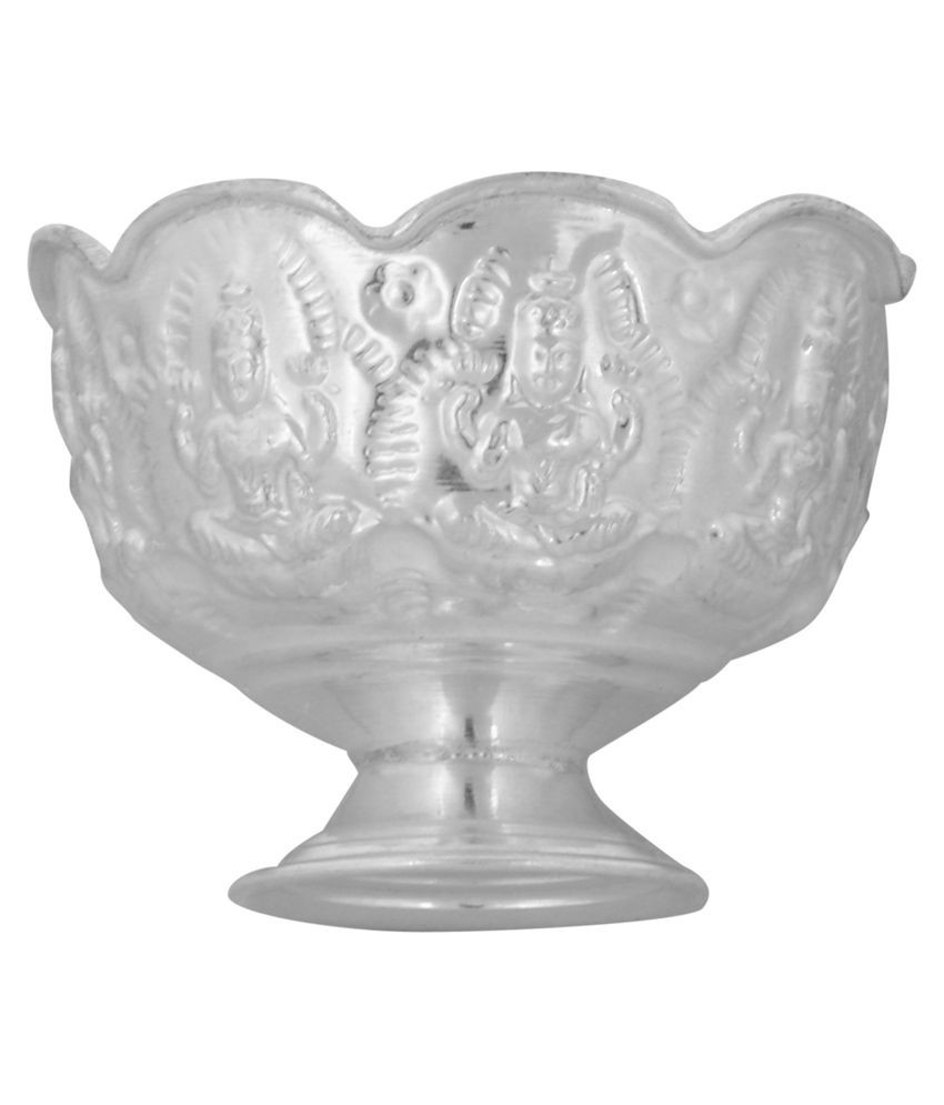 engraved glass vase of silverslane silver sandal bowl with laxmi image engraving buy for silverslane silver sandal bowl with laxmi image engraving