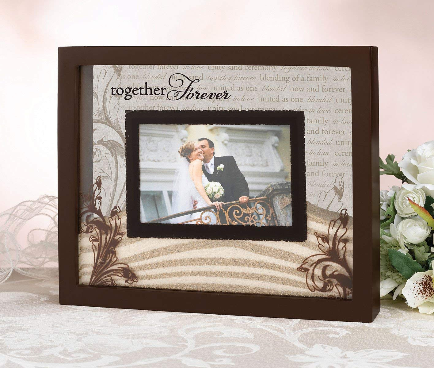 engraved unity sand vase of amazon com lillian rose unity sand ceremony wedding picture frame in amazon com lillian rose unity sand ceremony wedding picture frame single frames