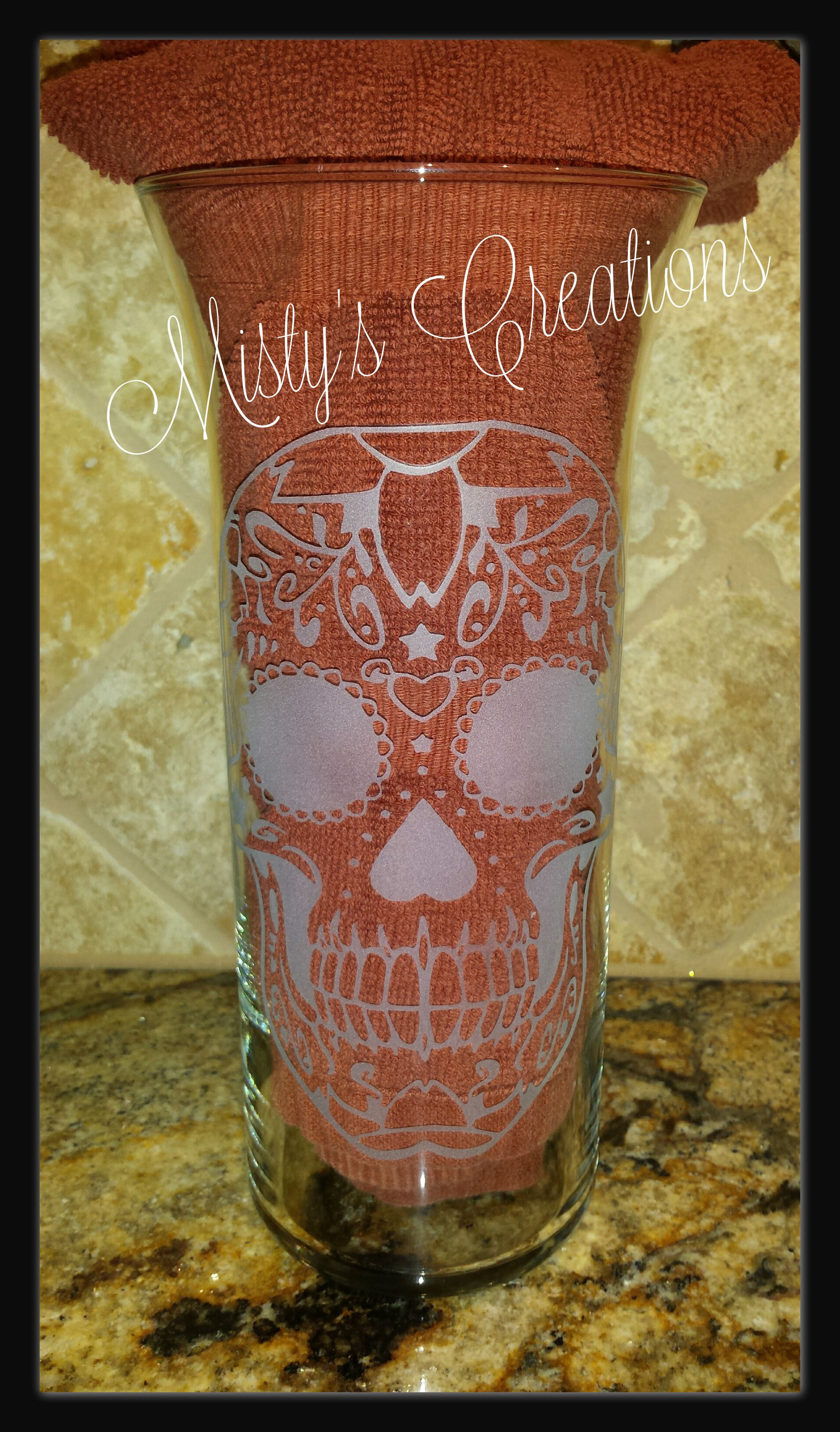 engraved vases wedding of this 9 vase was a wedding gift the sugar skull was the same design inside this 9 vase was a wedding gift the sugar skull was the same design that was on their wedding invitations